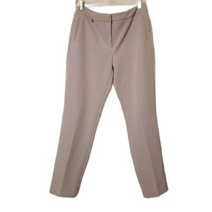 Adrianna Papell Tapered Gray Ankle Length Trousers